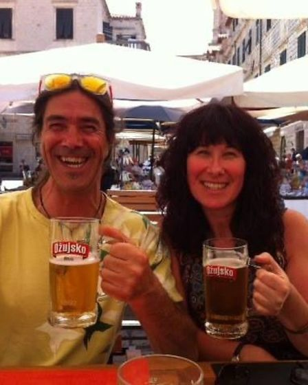 Andy Smith and his sister Deb Smith on holiday in Dubrovnik.