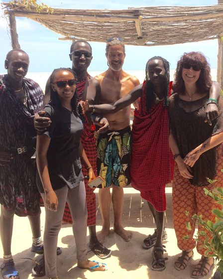 Andy and his sister Deb in Zanzibar, one of their many adventures together.