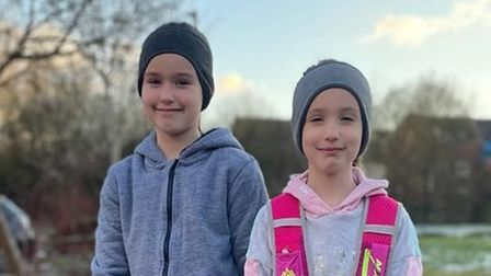 Rosie and Poppy Way have raised £1,000 for Steeple Bumpstead Primary School