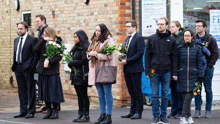 Waterbeach fell silent to pay their respects of baby Louis, killed when a van hit his pram.