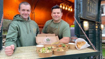 Chefs and friends David Carter and Ryan Galvin have set up Thai street food takeaway Phat Khao in a converted horse trailer.
