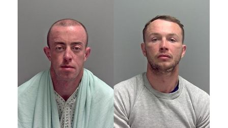 Anthony Reilly and Steven Brogan were jailed at Ipswich Crown Court