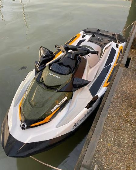 The jet ski was used to cross the North Sea