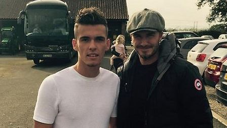 Harry Toffolo with David Beckham