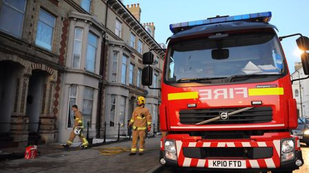 Fire at a flat on the Waterloo Road/Victoria Terrace area of Kirkley.Picture: James Bass