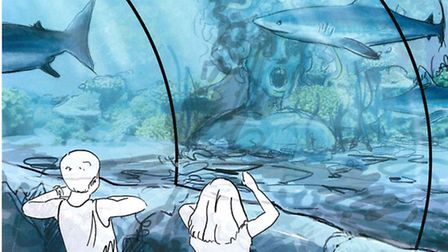 An artist's impression of the new look ocean tank at Great Yarmouth's Sealife Centre.