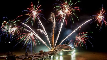 New Year's Day fireworks at Cromer - captured in the winning image from last year's photography comp