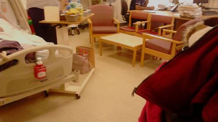 Arlene Meekins, 77, was moved to the staff office at the Norfolk & Norwich hospital. Picture: Suppli