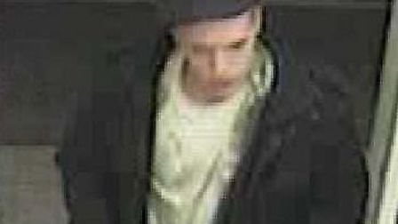 CCTV image of a man who police would like to speak to in connection with a theft from an Eye superma