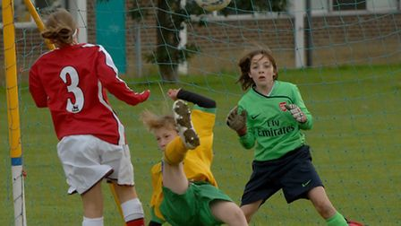 Flashback to 2008: Action from the under 12's NCFC FA Girls Centre of Excellence matches against Ars