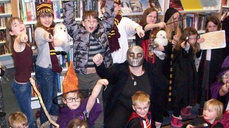 North Walsham Library Harry Potter event - wandmaking