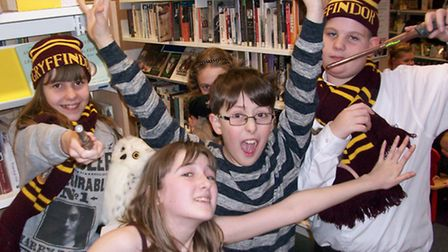 North Walsham Library Harry Potter event - hats and muggles