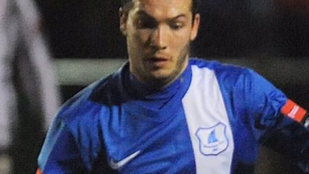 Danny White scored for Wroxham at Harlow. Picture: Ian Burt