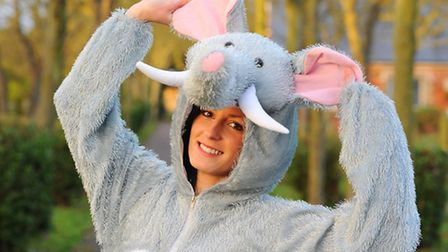 Sam Street is going to walk 10 miles across Great Yarmouth in a bid to raise money for a elephant sa