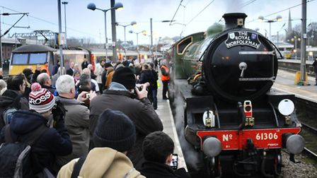 The Mayflower steam train at Norwich Station.Picture: ANTONY KELLY