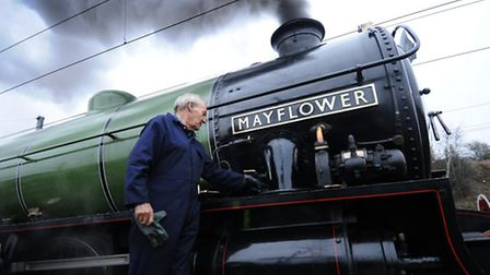 The Mayflower steam train at Norwich Station. Owner David Buck.Picture: ANTONY KELLY