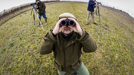 The Big Farmland Bird Count - a bird identification day was held at Field Farm in Hockwold. Picture: