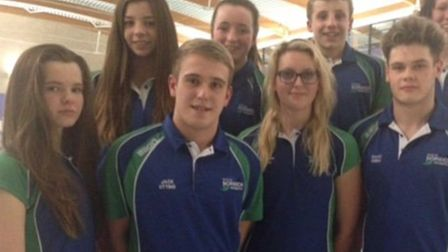 From right, UEA City of Norwich Swimming Club head coach Alex Pinniger, head age group coach Karen P