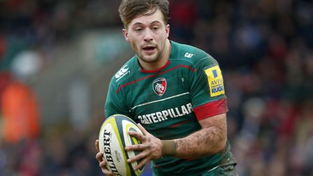 George Catchpole in action for Leicester Tigers against Northampton Saints in the LV= Cup in January