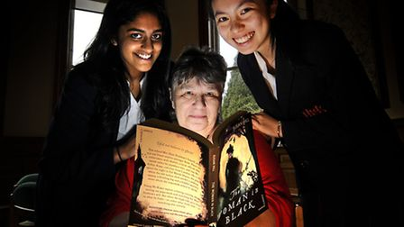 Author Susan Hill at Norwich High School.Picture: ANTONY KELLY