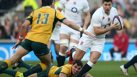 Ben Youngs in action for England during the 26-17 win over Australia at Twickenham during the 2014 Q