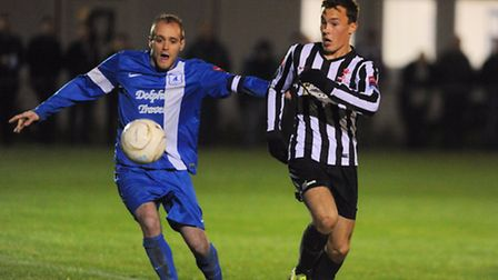 Dereham, black and white, dropped points in their quest to reach the Ryman North play-offs on Saturd