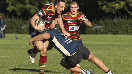 Chris Parrott, pictured in action against Chelmsford earlier this season, will struggle to be availa