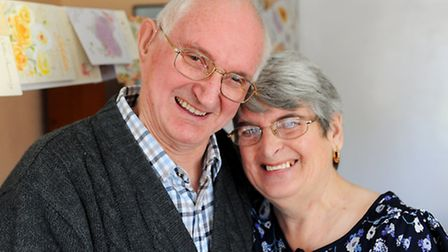 Gloria and Anthony Swainston were the first couple married in All Hallows Church, Pinhow Street, , w