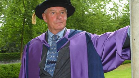 John Alston who receives a Doctor of Civil Law at the University of East Anglia.Picture: James BassC