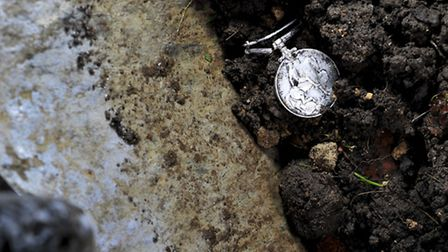 Frank Rush of Wroxham was digging a soak-away in his garden and found a first world war medal - and