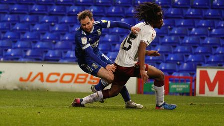 Alan Judge goes down in the area after contact from .
