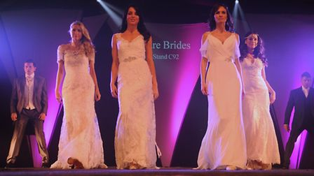 The catwalk at the EDP Wedding Show at the Norfolk Showground, here showingPure Brides wedding dress