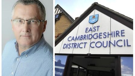 Cllr David Ambrose Smith (left), chairman of the operational services committee at East Cambridgeshire District Council.