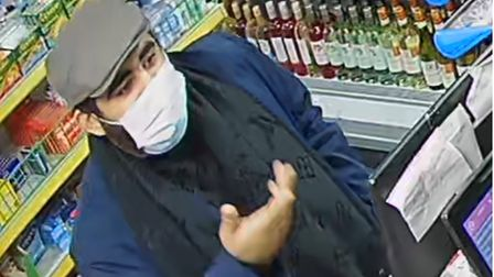 Essex Police has released CCTV after a shopworker was assaulted by alleged fraudsters in Hatfield Peverel