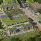 Artist impression of the South West Cambridge proposal north of Barton Road, Aldermanne section.