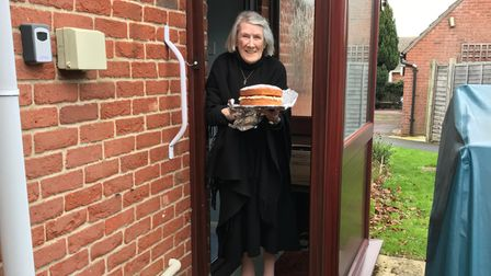 Halesworth Volunteer Centre has delivered treats to people during lockdown