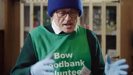 Film director Danny Boyle helped out at Bow foodbank