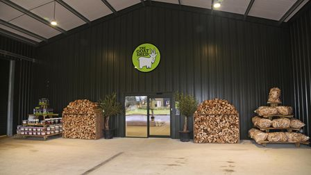 The entrance to the expandedGoat Shed farm shop in Honingham