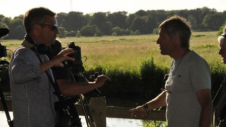 John Bailey is used to the glare of the television cameras. Picture: www.mrcrabtreegoesfishing.com