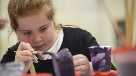 Showmen's children take part in a special Mart School at the King's Lynn Arts Centre. Picture: Matth