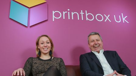 Paul Youngs, Director and Amanda King of Printbox UK. The firm has opened a new office in King Stree