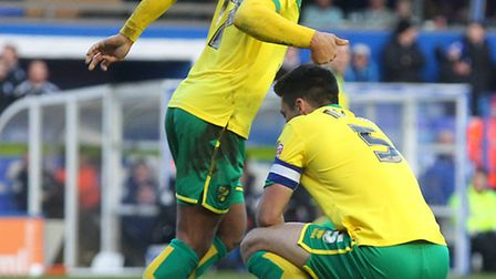 Norwich City captain Russell Martin reflects on a near miss against Birmingham City. Picture by Paul