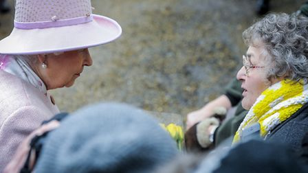 The Queen and the Duke of Edinburgh attend St Peter & St Paul church at West Newton - The Queen talk