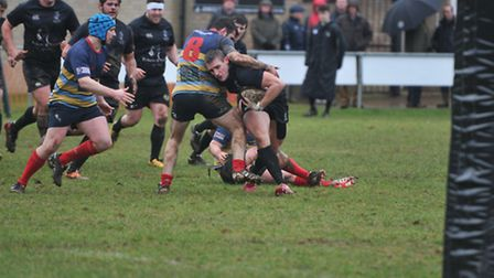 Graham Ilsley on the attack for Holt in the first half.Picture: STUART YOUNG