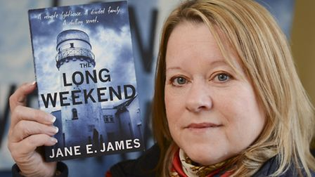 Writter Jane E. James with her novel 'Long Weekend', at a book signing at the Princess Theatre in Hu