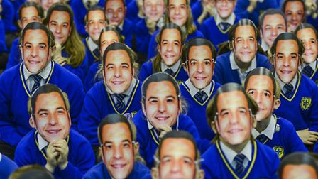 Pupils from Howard Junior School are making the effort to convince David Walliams to visit their sch