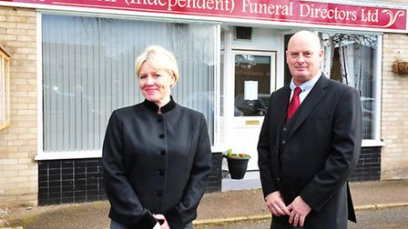 Tanya Russell and her business partner Haydn Farrell have opened a new Funeral directors in Chedgrav