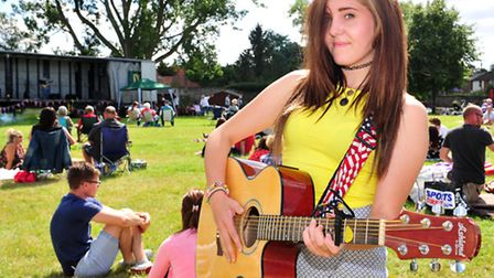 Beccles Harvest Moon festival 2014. Maizie Walsh who performed at the festival.