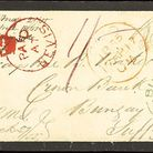 The envelope sent from the Caribbean to Bungay in 1855 sold for £480 at an auction.