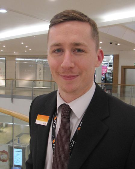 Ryan Marshall, from the environmental management team at intu Chapelfield in Norwich